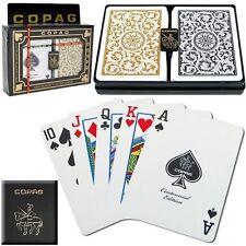 Copag Poker Size Black Gold 1546 Regular Index  Playing Card Decks New