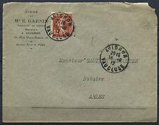 LETTRE  AVIGNON POUR ARLES 1912 TYPE SEMEUSE NOTAIRE ETUDE DE MAITRE  E GARSIN