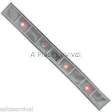 White Reflective Safety Elastic Wrist Band with 4 LED Lights & 2 Modes Survival