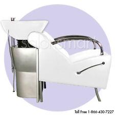 Shampoo Unit Backwash Bowl Chair Salon Equipment White