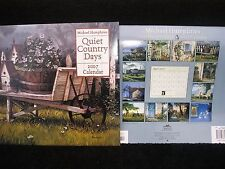 4 Michael Humphries Quiet Country Days 2007 Collectible Wall Calendars DIY NIP