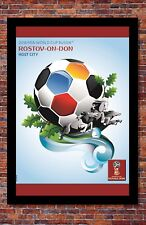 """2018 FIFA World Cup Russia Poster Soccer Tournament   Rostov-On-Don   13"""" x 19"""""""