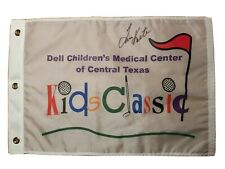 Tom Kite Signed Golf Flag Dell Children's Medical Center of Central Texas
