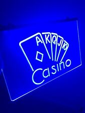 Casino Room Led Light Neon Sign for Game Room,Office,Bar,Man Cave, Arcade Room.