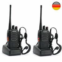 2×Baofeng BF-888S Long Range UHF 400-470Mhz EMISORA Walkie Talkie Radio 16CH