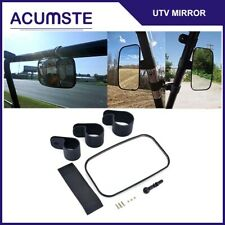 "Center Mirror Universal UTV Off Road Large Adjust Wide Rear Clear View 1.5""-2"""