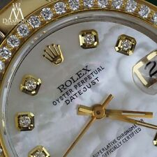 Ladies 26mm Rolex Oyster Perpetual Datejust Custom Diamonds White Accent