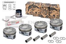 4x Kolben Reparatursatz +0,50 mm Ø 77,00 mm VV AUDI SKODA SEAT 1,4 TSI CAVC CAVD