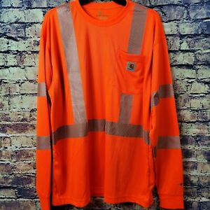 Carhartt Force High Visibility Long Sleeve Class 3 T-Shirt Emergency Road Crew L