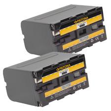 2x Batteria Patona 6600mah li-ion per Sony HVR-M10U,HVR-NX5E,HVR-NX5R,HVR-V1E