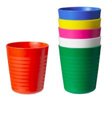 Ikea Kalas  Children Kids Plastic 8oz Tumbler (6)  Multi-Color   NEW