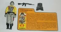 1989 GI Joe Cobra Python Patrol Crimson Guard v2 Figure *Complete* w/ File Card