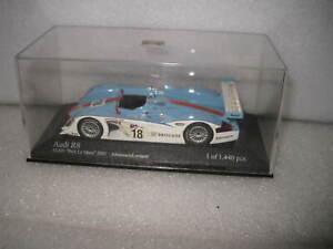 MINICHAMPS 1/43 AUDI R8 ALMS PETIT  Le Mans 2001 #18 JOHANSSON / LERMARIE NO BOX