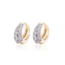 18 k Gold Plated Baby Girl Christening Shiny Classic Hoops First Earrings E1206