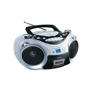 SUPERSONIC SC739BTSL BOOMBOX,BT,CD,MP3,AM/FM