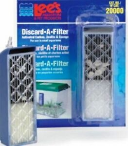 Lee's Discard A Filter is A easy to use disposable filter in Small Aquariums