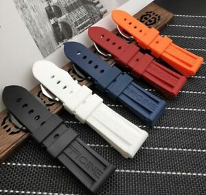 22 24 26 Silicone Rubber Watchband  Strap for Panerai PAM Watch Band HI QUALITY!