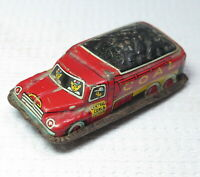 VTG 50s LineMar Toys Japan Tin Litho Friction Car Coal & Coke Delivery Truck