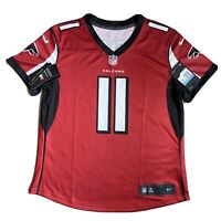 Nike Dri-Fit NFL Atlanta Falcons Red Jersey Shirt #11 JONES Women's M BNWT