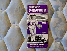 1967-68 PORTLAND PILOTS BASKETBALL MEDIA GUIDE Yearbook 1968 Program College AD