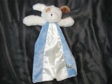 Bunnies by the Bay Skipit Salty Nautical Dog Baby Bye Buddy Blue Satin Blanket