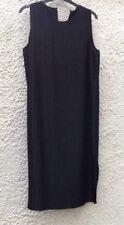 M&S Black Pleated Sleeveless Midi Length Tunic Dress Size 20 petite BNWT