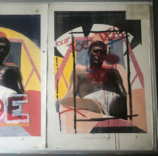 Pop Art screen prints by Renowned 80's Gay Artist David Evans Original Nude Male