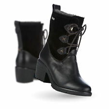 EMU Australia UK 8 Womamba Black Leather & Suede Combi Brand New Ankle Boots