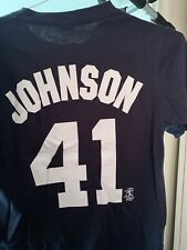 Majestic RANDY JOHNSON No. 41 NEW YORK YANKEES (Small) T-Shirt