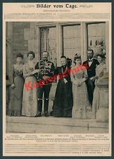 Kaiser Wilhelm II. Kronberg Schloss Friedrichshof Prinzesinnen Adel Homburg 1900