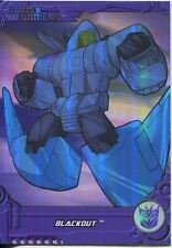 Transformers Optimum Generation 1 Foil Chase Card TF17 Blackout