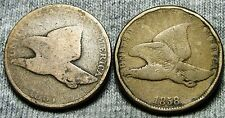 "1857 & 1858 Flying Eagle Cents Lot Type Penny ""Reeded Edge"" -- Nice Lot -- #D059"