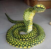 "110""/2.8m Stuffed Animal Emulational Anaconda Green Snake King Cobra Plush Toy"