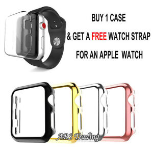 Screen Protector Case Cover for Apple Watch 1 2 3 4 5 6 38/40/42/44mm (UK SHOP)