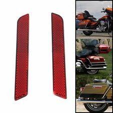 Red reflector of Saddlebag Latch Hardware For Harley 1993-2013 ABS material