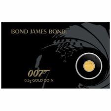 TUVALU 2 Dollars Or 1/2 Gramme 007 James Bond 2020