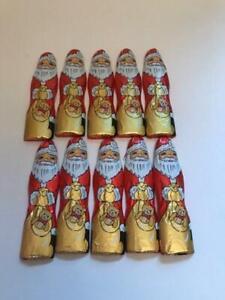 Novelty Milk Chocolate Solid Santas Father Christmas 10 x 12g