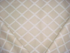 10-7/8Y Serena & Lily Diamond Bisque Lattice Print Drapery Upholstery Fabric