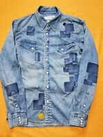 Remi Relief Japan Embellished Distressed Denim Shirt Size XL (fits US size L)
