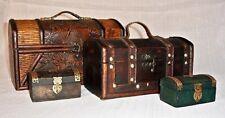 BAULES PEQUEÑOS - JOYEROS. Small Trunks - Jewelery box. Petits troncs - Bijoux