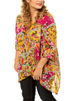 Crinkle Shirt Longshirt Bluse Tunika Ulla Popken 50 52 54 56 58 60 62 64 66 68