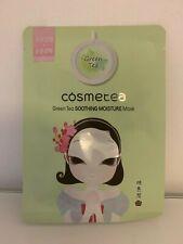 COSMETEA Green Tea Soothing Moisture Face Mask - Korean Beauty