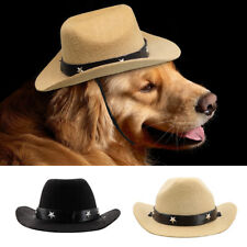 Dog Hat Pet Cowboy Sun Cap Cosplay Party Show Hat for Small Medium Large Dogs