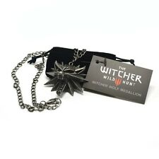 Original The Witcher 3 Wolf Medaillon + Kette + schwarzem Beutel Merchandising