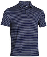 New Mens Top Tee Under Armour Muscle Golf Polo Shirt Stripe Solid