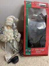 """Vintage Sterling 12"""" Fiber Optic Santa Claus"""