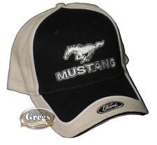 Ford Mustang Hat Cap Black/Bone