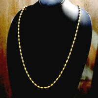 Gold Plated 2 Double Layer Beaded Chain Choker 23in  Necklace majestic Pendant