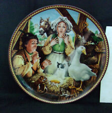 "Vintage Aesop'S Fable""The Goose That Laid The Golden Egg"" Collector Plate 13509A"
