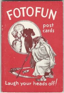 1935 Fotofun Post Cards Pre-Printed Postcards Humor Add a Snapshot Book